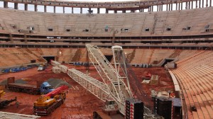 Mané Garrincha em obras para a Copa de 2014 no Brasil