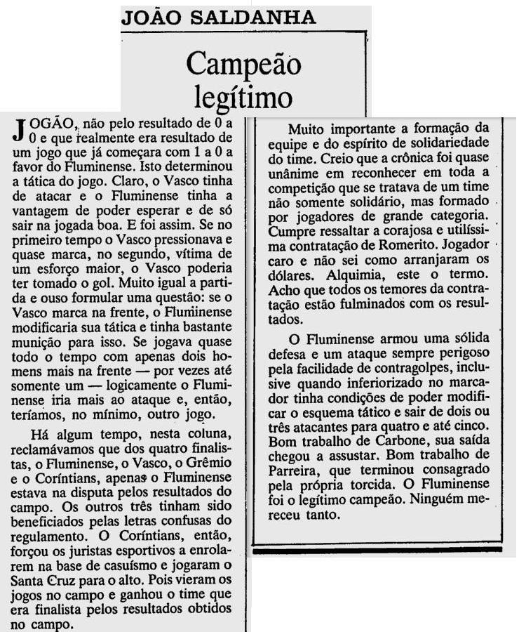 saldanha 1984 flu brasileiro